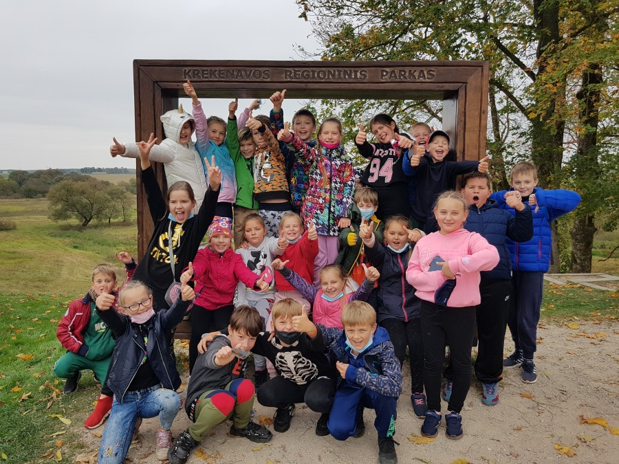 Trečiokų išvyka į Krekenavos regioninį parką